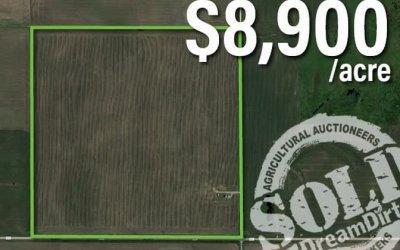 Hancock County, Iowa Farmland Auction Success!