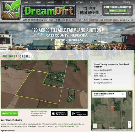 Cass County Nebraska Farmland Auction