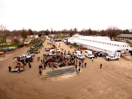 A photo of people attending a consignment auction.