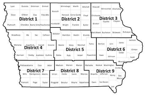 Iowa District Map