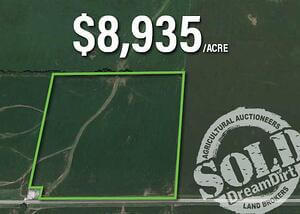Carroll county land plot is shown as sold for $8,935 per acre.