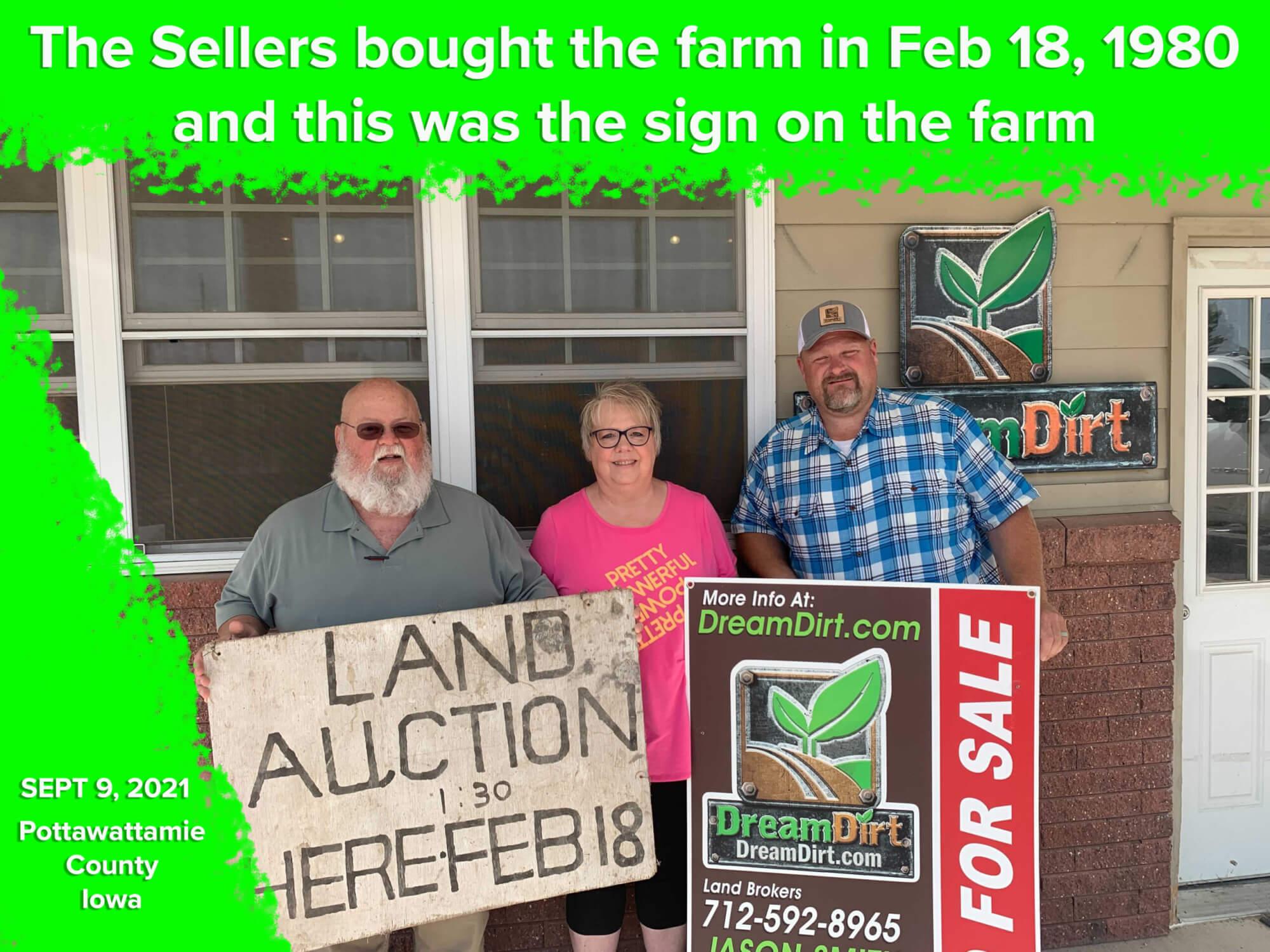 old farm sale sign