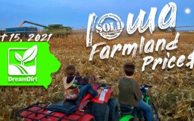 Iowa Farmland Prices Report October 15, 2021